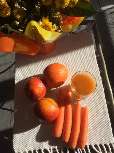 Jus d'orange et carotte